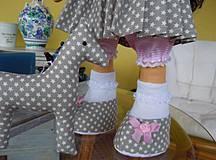Bábiky - Alica v skladanej sukničke s koníkom - 4308363_
