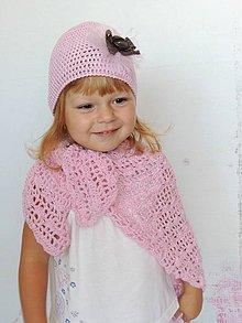 Detské čiapky - Háčkovaná šatka a čiapka - 4304896_