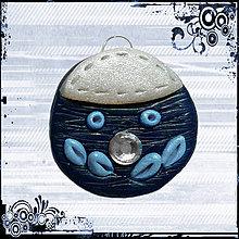 Náhrdelníky - Duša so šmrncom - modrý prívesok - 4306351_