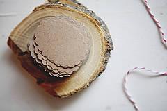 Papiernictvo - Visačky na svadbu / recyklované - 4309519_