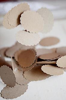 Papiernictvo - Visačky na svadbu / recyklované - 4309524_