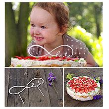 """Dekorácie - Večná láska """"zápich na tortu"""" - 4309365_"""
