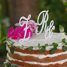 """Dekorácie - Svadobné iniciály """"zápich na tortu"""" - 4310542_"""