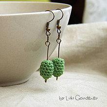 Náušnice - Malé smaragdové náušnice - 4314887_
