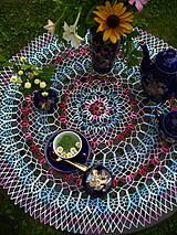 Úžitkový textil - Háčkované prestieranie - Lady Blue Ivy  - 4314118_