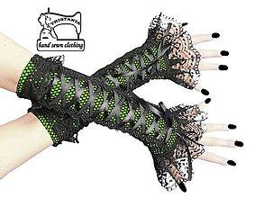 Rukavice - Gothic bezprsté rukavice s čipkou 1415 - 4316079_