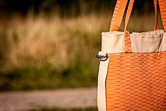 Veľké tašky - Oranžová letná - 4317377_