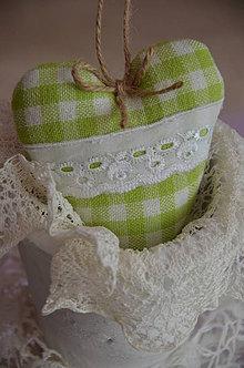 Dekorácie - Srdiečko zelená kocočka - 4316090_