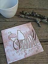 Pomôcky - Podšálky - podložky pod pohár - vintage anjelik - 4317723_