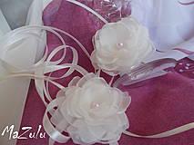 Nádoby - ozdoba na svadobné poháre - 4320598_