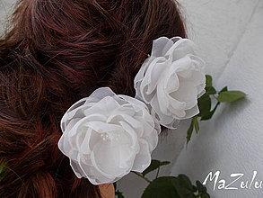 Ozdoby do vlasov - kvetinky pre nevestu - 4322304_