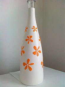 Nádoby - Fľaša s kvietkami-vyberte si farbu - 4321578_