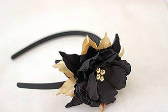 Ozdoby do vlasov - Čierno zlatá elegancia - 4321014_