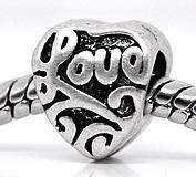 Pandorkový prívesok srdiečko LOVE