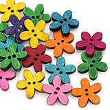 Galantéria - Veľký balíček gombíčkov kvetiniek (balíček 50ks) - 4320366_