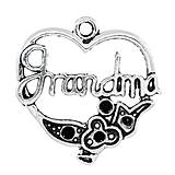 Prívesok srdiečko s nápisom GRANDMA (babička)