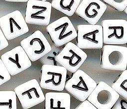 Korálky - Korálky abeceda kocky (balíček 500ks) - 4321907_