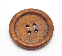 Galantéria - Drevený gombíček 35mm - 4322531_