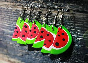 Náušnice - Fresh watermelon - 4321626_