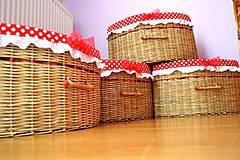 Košíky - Rohové s bambusom/ks - 4321562_
