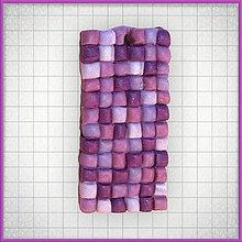 Náhrdelníky - Mozaikový prívesok Fialová anarchia - 4320133_