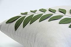 Úžitkový textil - Polštář se zelení - 4323857_