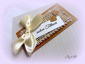 Papiernictvo - Natur kartičky na svadobné výslužky - 4323860_