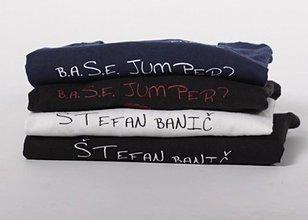 Oblečenie - Modré tričko s bielou eko potlačou - 3508600_
