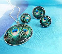 Sady šperkov - krása pavích pírek - 4324132_