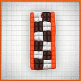Náhrdelníky - Mozaikový prívesok Oranžová šachovnica - 4323976_