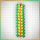 Náhrdelníky - Mozaikový prívesok Letná trikolóra - 4324030_