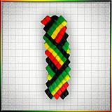 Náhrdelníky - Mozaikový prívesok Rasta Reggae - 4324779_