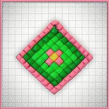 Náhrdelníky - Mozaikový prívesok Osamelý kvet - 4323535_