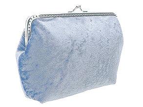 Kabelky - Dámská kabelka zamatová modrá  04707A - 4327223_