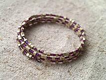 Náramky - fialovo-béžový - 4327374_