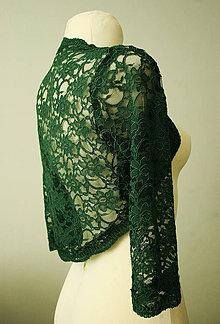 Iné oblečenie - zelené bolerko - 4328490_