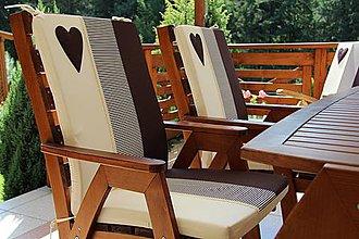 Úžitkový textil - podsedák na stoličku , záhradné kreslo spodný diel - 4332783_