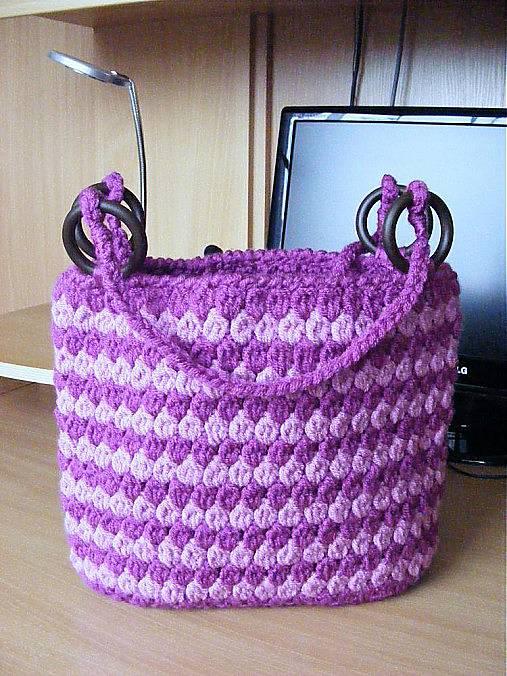0debcee6e9 Háčkovaná kabelka - návod   ajkava - SAShE.sk - Handmade Kabelky