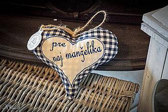 """Dekorácie - Srdiečko """" pre naj manželíka"""" - 4334115_"""
