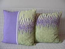 Úžitkový textil - Levandulový vankúš s čipkou - 4335717_