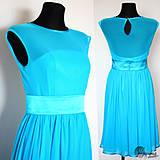 Šaty - Spoločenské šaty z elastického padavého tylu rôzne farby - 4334793_