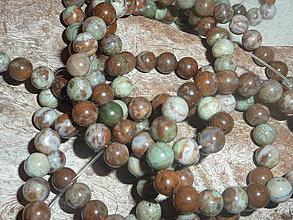 Minerály - Opál peruánsky zelenohnedý 6mm - 4336220_