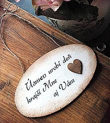 Tabuľky - Úsmev urobí deň krajším Mne aj Vám - 4333396_