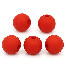 Korálky - Červené korálky matné 8mm (balíček 50ks) - 4334560_