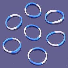 Iný materiál - G17922 gumičky LOOM BANDS modro-biele, 100 ks - 4336776_