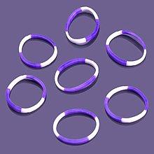 Iný materiál - G17924 gumičky LOOM BANDS fialovo-biele, 100 ks - 4336853_