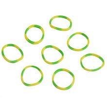 Iný materiál - G17925 gumičky LOOM BANDS žlto-zelené, 100 ks - 4336872_