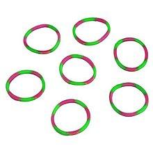 Iný materiál - G17926 gumičky LOOM BANDS ružovo-zelené, 100 ks - 4336884_