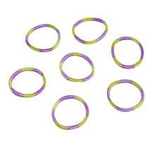 Iný materiál - G17927 gumičky LOOM BANDS žlto-fialové, 100 ks - 4336947_