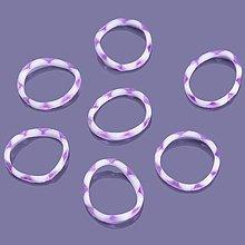 Iný materiál - G17928 gumičky LOOM BANDS ružovo-biele, 100 ks - 4336968_